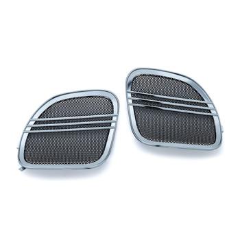 Kuryakyn Tri-Line Speaker Grills for 2015-2016 Harley Road Glide - Chrome