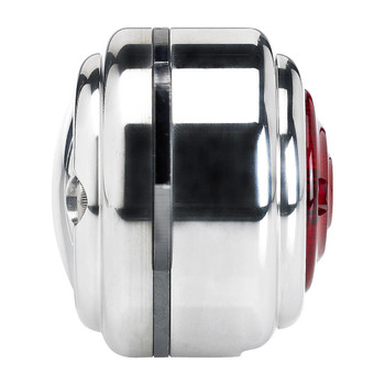 Biltwell Ribbed Tail Light Backing Plate - Polished