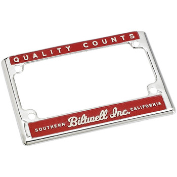 Biltwell Quality Counts License Plate Frame