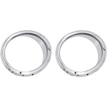 Ciro Chrome Front Speaker Accents for 2014-2017 Harley Touring