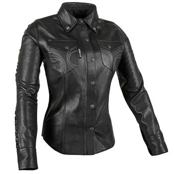 Speed and Strength Black Heart™ Leather Moto Shirt
