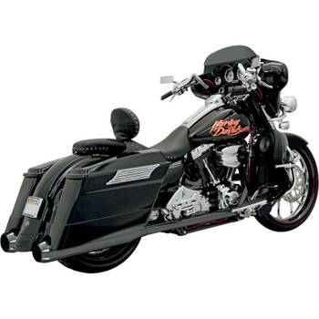 Bassani +P Bagger Stepped True-Duals Exhaust System with Power Curve and B1 Mufflers for 1995-2008 Harley Touring