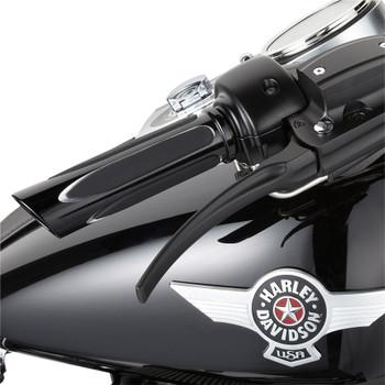 Arlen Ness Deep Cut Comfort Grips for Harley - Black