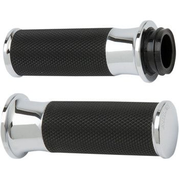 Arlen Ness Smoothie Fusion Grips for Harley Electronic Throttle - Chrome