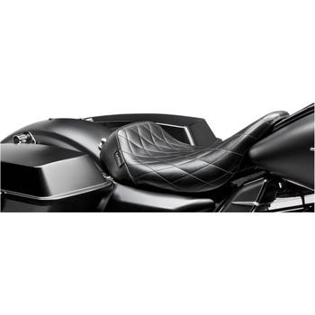 LePera Bare Bones Solo Seat for 2008-2020 Harley Touring - Diamond Stitch