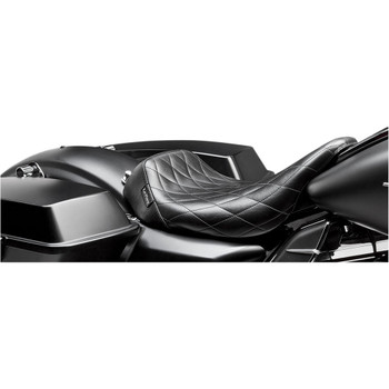 LePera Bare Bones Solo Seat for 2008-2020 Harley Touring - Diamond Stitch