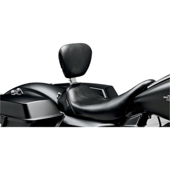 Le Pera Bare Bones Smooth Solo Seat w/ Driver Backrest for 2008-2020 Harley Touring
