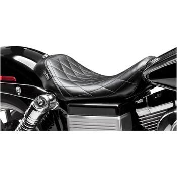 LePera Bare Bones Solo Seat for Harley Dyna - Diamond Stitch