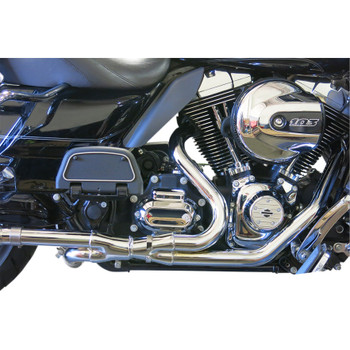 Bassani Chrome 2x2 Dual Headpipes Exhaust for 2009-2016 Harley Touring