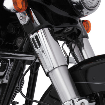 Ciro Forkini Upper Fork Tin Accents for 2008-2013 Harley Touring