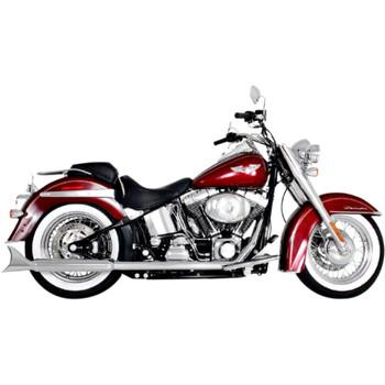 """Samson Chrome 3"""" Longtail Exhaust Mufflers for Harley Springer Softail"""