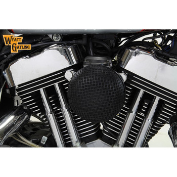 V-Twin Black Round Mesh Air Cleaner for 1991-2016 Harley Sportster