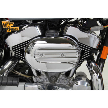 V-Twin Chrome Oval Late Style Air Cleaner for 1991-2016 Harley Sportster