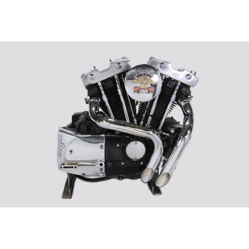 V-Twin LAF Exhaust for 1957-1985 Harley Ironhead Sportster - Chrome