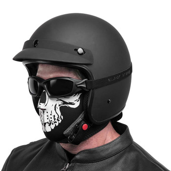 Black Brand Skull Neoprene Half-Face Mask