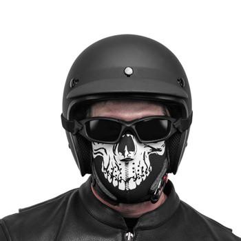 Black Brand Skull Neoprene Half-Face Mask