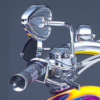 Arlen Ness Chrome Teardrop Mirrors with Steel Stems