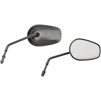 Drag Specialties Long-Stem OEM-Style Teardrop Mirrors