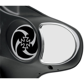 Drag Specialties Chrome Fairing Mount Mirrors for Harley Touring