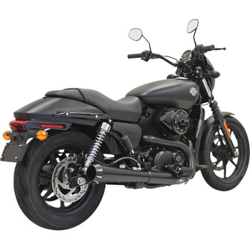 "Bassani 4"" Black Megaphone Slip-On Muffler for XG Street"