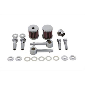 V-Twin Dual Breather Kit for Harley