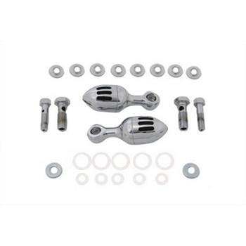 V-Twin Chrome Acorn Billet Breather Canister Kit for Harley