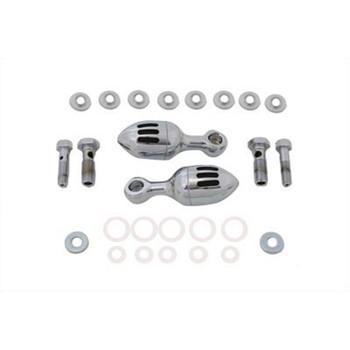 V-Twin Chrome Acorn Billet Breather Canister Kit for Harley