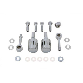 V-Twin Sifton Dual Canister Breather Kit for Harley