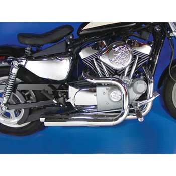 V-Twin Side by Side Drag Pipes Exhaust for 2004-2016 Harley Sportster
