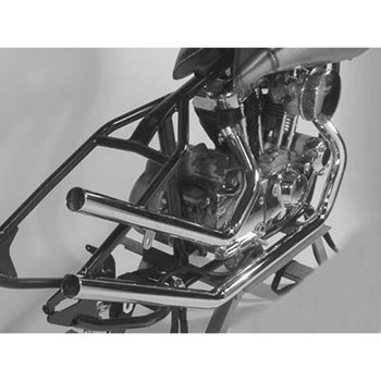 "Paughco 1-3/4"" Upsweep Exhaust for 1957-1985 Rigid Harley Ironhead Sportster - Chrome"