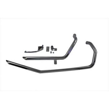 """V-Twin Chrome 1-3/4"""" Upsweep Slash Cut Drag Pipes Exhaust for 1986-2003 Harley Sportster"""