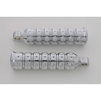 V-Twin Chrome Micro Grooved Foot Pegs for Harley