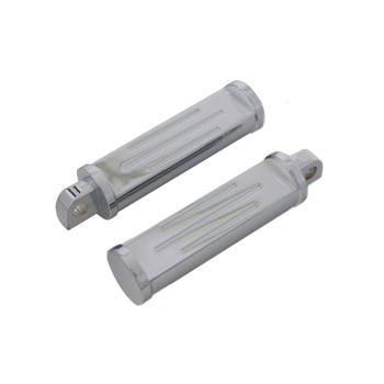 V-Twin Chrome Ball Milled Foot Pegs for Harley