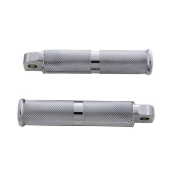 V-Twin Chrome Hollow Knurled Foot Pegs for Harley