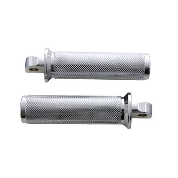 V-Twin Chrome Flange Knurled Foot Pegs for Harley