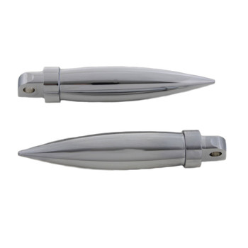 V-Twin Chrome Long Torpedo Foot Pegs for Harley
