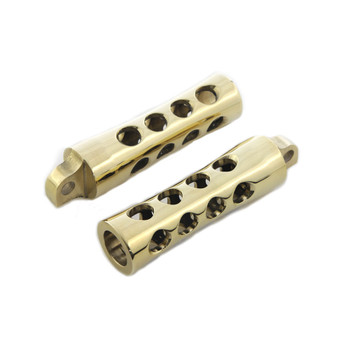 V-Twin Brass Concave Foot Pegs for Harley