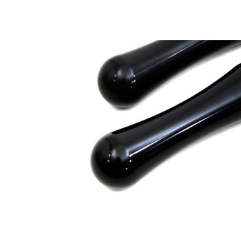 V-Twin Black Contour Foot Pegs for Harley