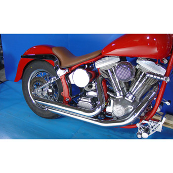 "V-Twin Chrome 2-1/4"" Monster Drag Pipes Shorty Exhaust for 1986-2006 Harley Softail"