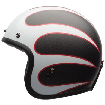 Bell Custom 500 Carbon Ace Cafe Tonup Black/White Helmet