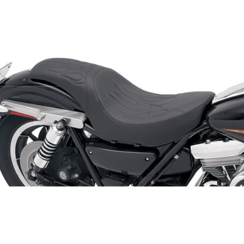 Drag Specialties Predator Seat for Harley FXR - Flame Stitch