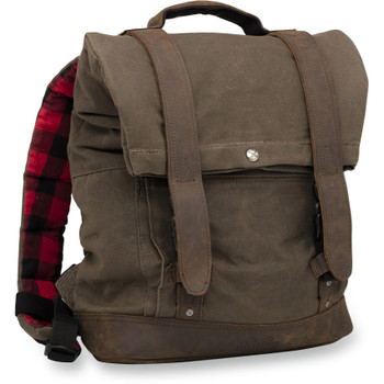 Burly Roll Top Backpack - Dark Oak