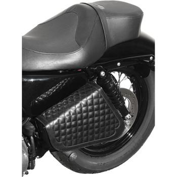 West-Eagle Adjustable Diamond Stitch Side Bag for 2004-2016 Harley Sportster