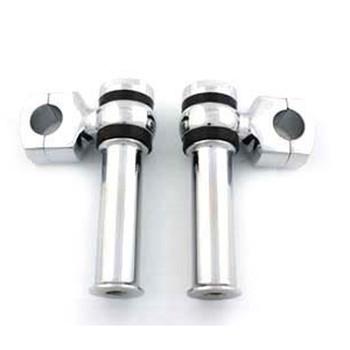 """V-Twin Chrome 4-1/4"""" Offset Dog Bone Risers for 1"""" Handlebars"""