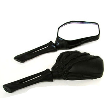 V-Twin Black Skeleton Hand Mirrors