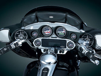 Kuryakyn Chrome Stereo Accent for 96-13 Harley Touring