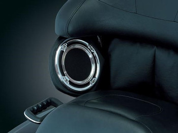 Kuryakyn Chrome Rear Speaker Accents for 1999-2013 Harley Touring