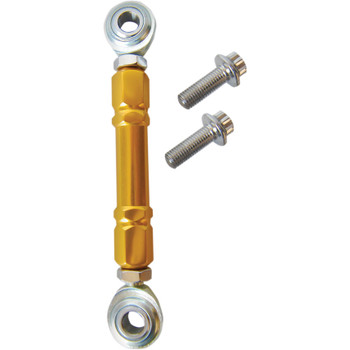 Alloy Art Gold Mid Control Shift Linkage for Harley