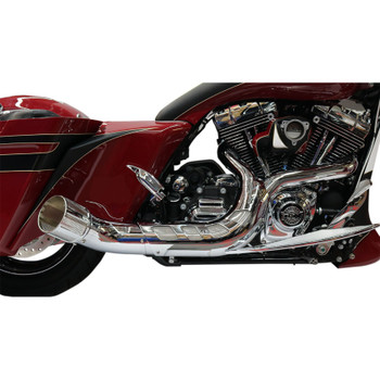 e0e5a0e92657 Paul Yaffe Bagger Nation Chrome Cult 45 Collector 2-Into-1 Exhaust System  for