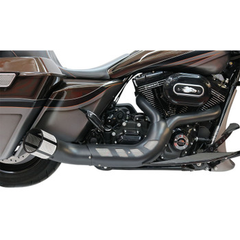 53c4acbefb21 Paul Yaffe Bagger Nation Black Cult 45 Collector 2-Into-1 Exhaust System  for ...